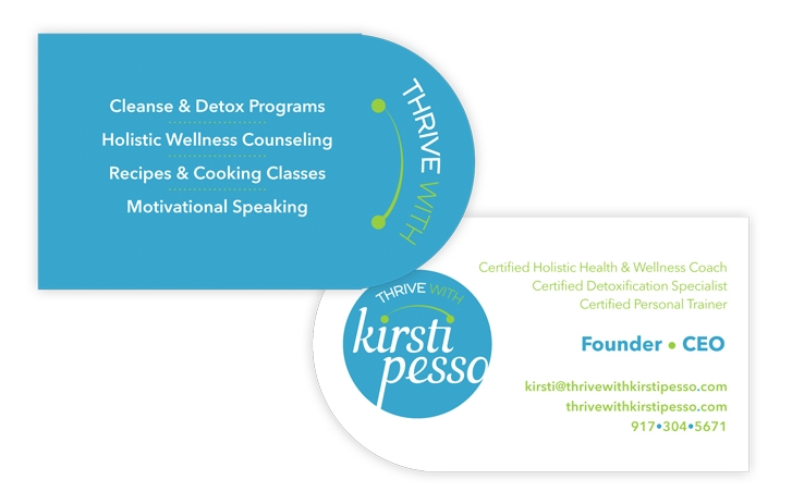 Kirsti Pesso Thrive business card