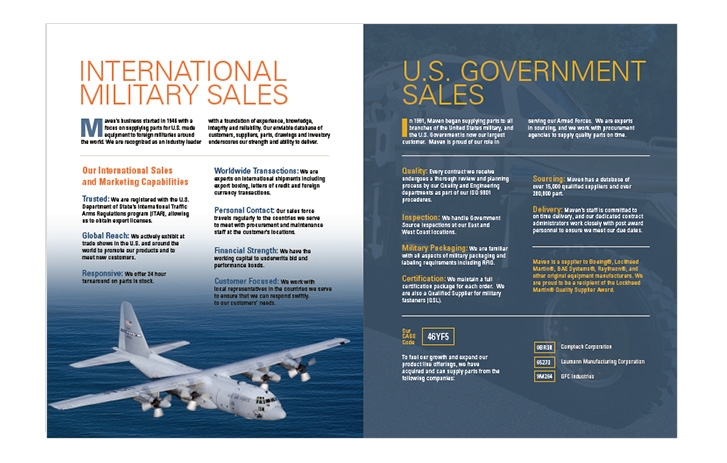 Maven screen shot - Military Sales