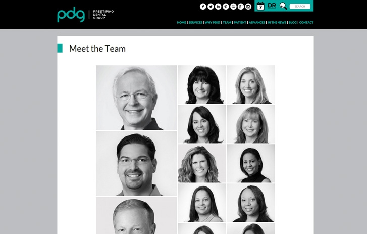 PDG screenshot - meet the team