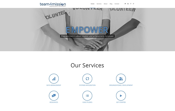 team 4 mission screen shot - Our Services