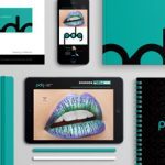 PDG promo blue-green lips