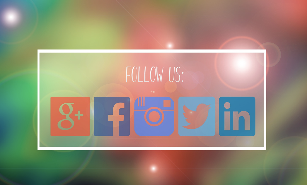 Google Plus, Facebook, Instagram, Twitter, and LinkedIn icons