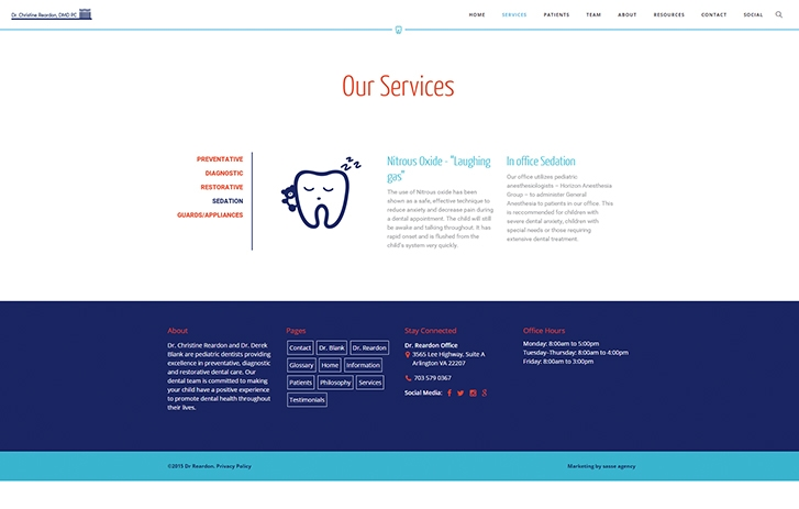 dentist services screenshot