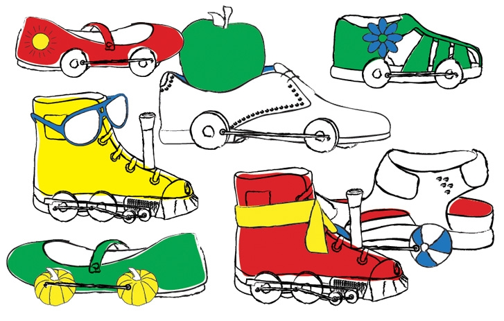 Shoe Train illustration